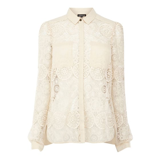 I'm loving all the peekaboo stuff; whether it's sheer materials or lace, this shirt is a fun option.— Laura, shopstyle.com.au country manager Shirt, approx $91, Warehouse