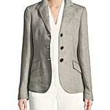 Loro Piana London Bridge Three-Button Herringbone Linen Blazer