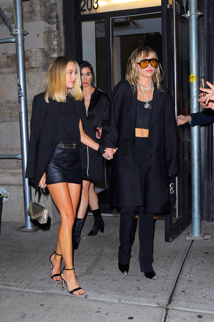 Miley Cyrus and Kaitlynn Carter in NYC