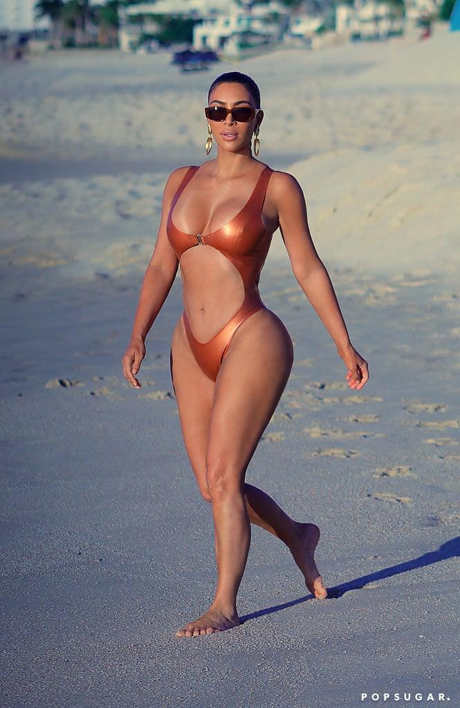 Kim Kardashian Mexico Bikini Pictures January 2020  POPSUGAR Celebrity