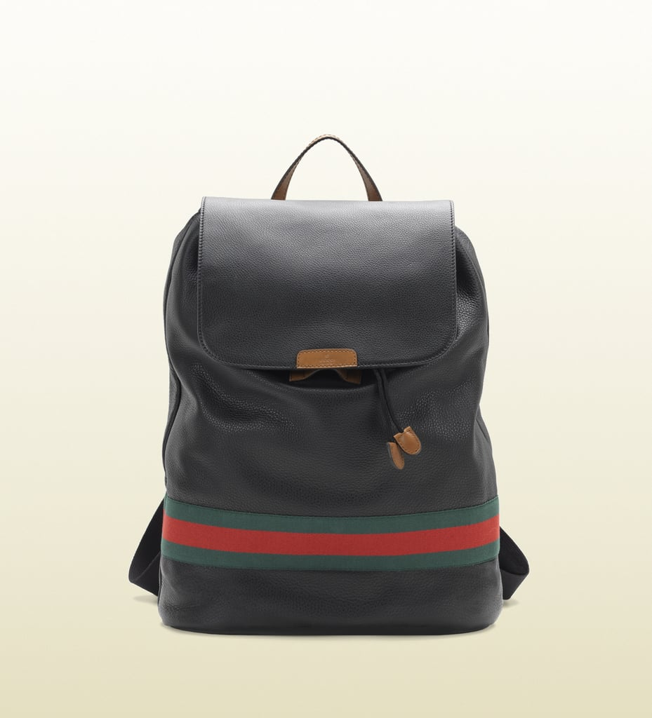 For the status symbol backpack ($1,850), look no further than the minimalistic stripe of red and green on this Gucci.