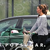 Kate Middleton was seen shopping at a local grocery store.