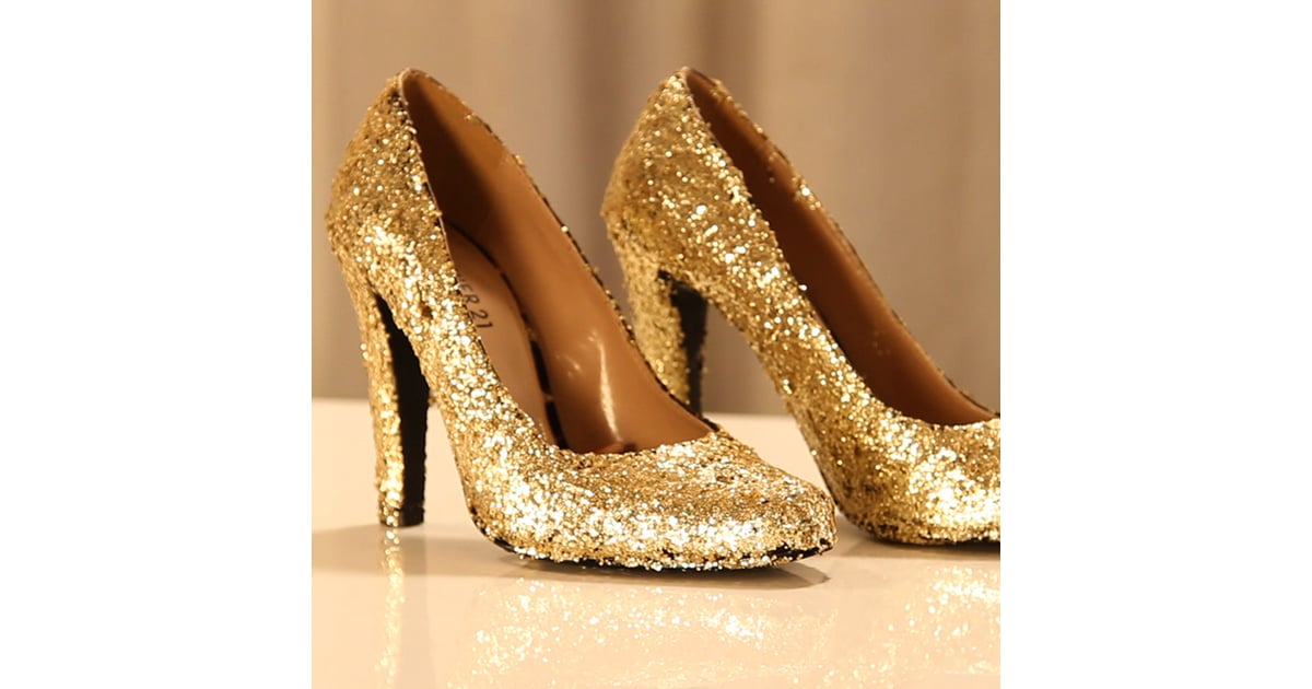 How To Make Glitter Shoes Popsugar Fashion
