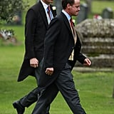 Prince William attended the wedding of his close friends in Gayton, England.