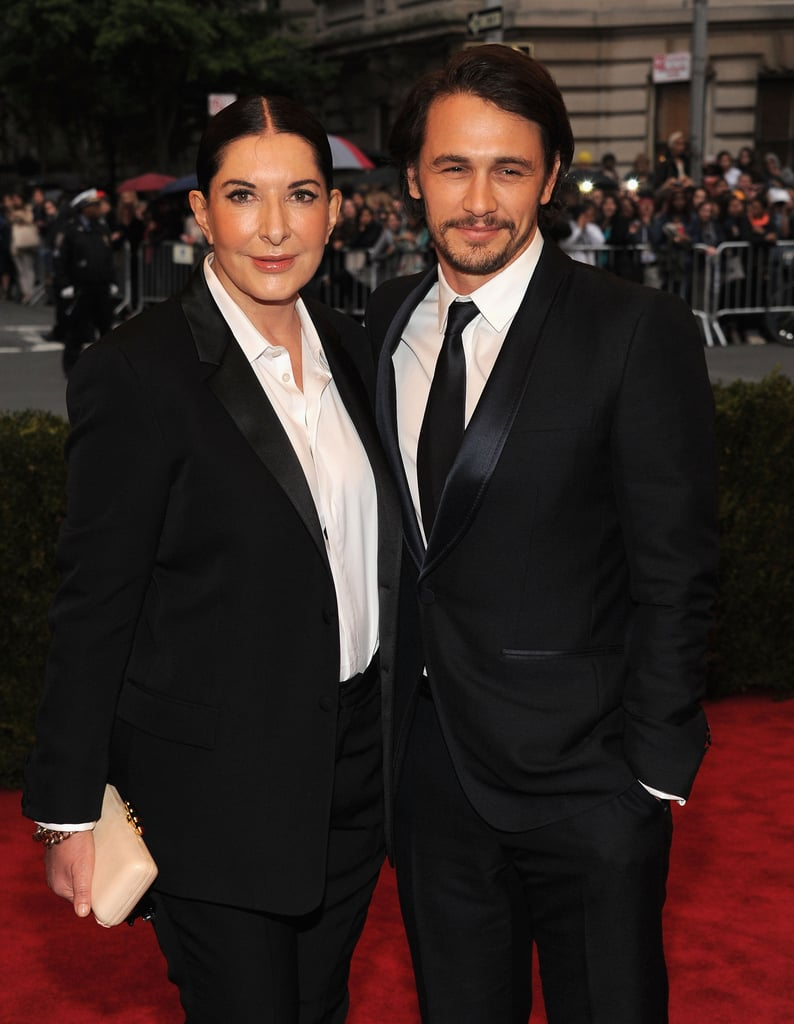 James Franco and Marina Abramovic both looked great in black and white.