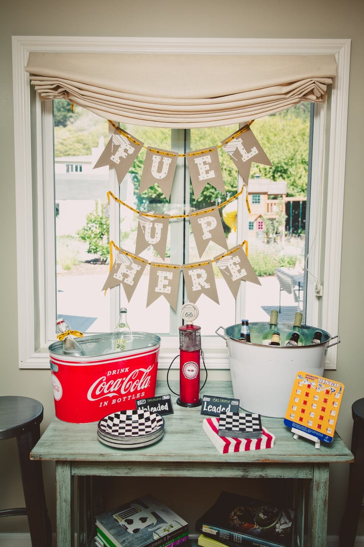 Fuel Up Here Race Car First Birthday Party Ideas