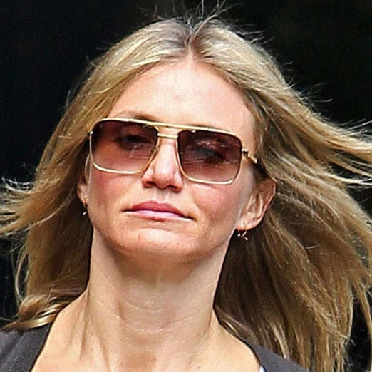 Cameron Diaz Pictures With Short Hair In Nyc Popsugar Celebrity