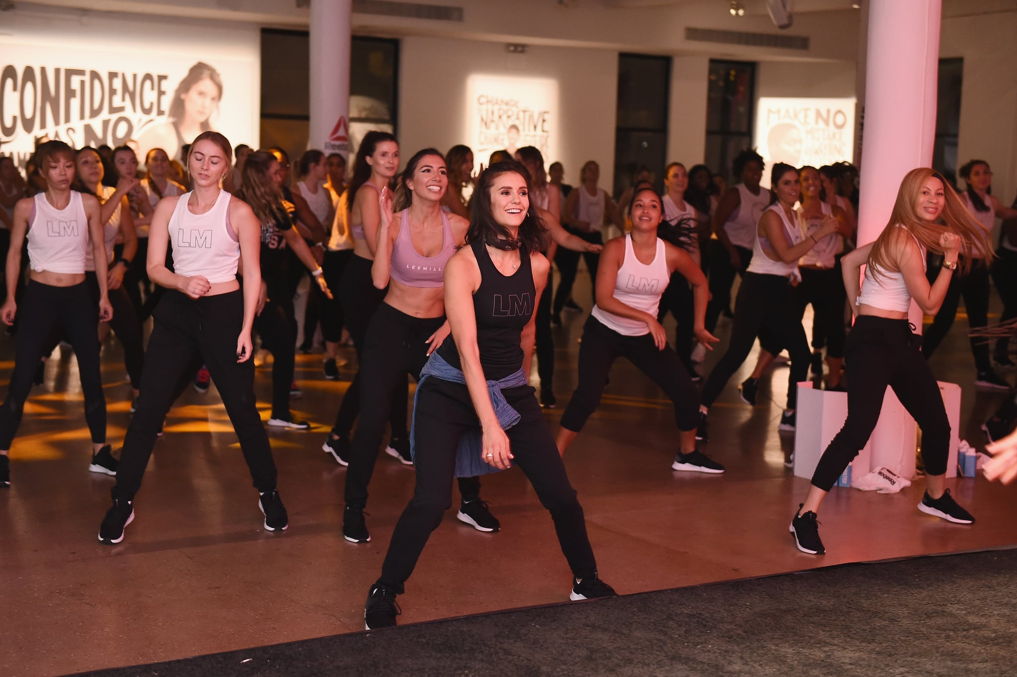 NEW YORK, NY - SEPTEMBER 27:  Actor Nina Dobrev appears as Reebok and Nina Dobrev host the Donate in Sweat NYC event, bringing together media and influencers to celebrate their shared commitment to female empowerment and showcase the newest Les Mills BODYJAM workout, at Hudson Mercantile on September 27, 2018 in New York City.  (Photo by Ilya S. Savenok/Getty Images for Reebok) *** Local Caption *** Nina Dobrev