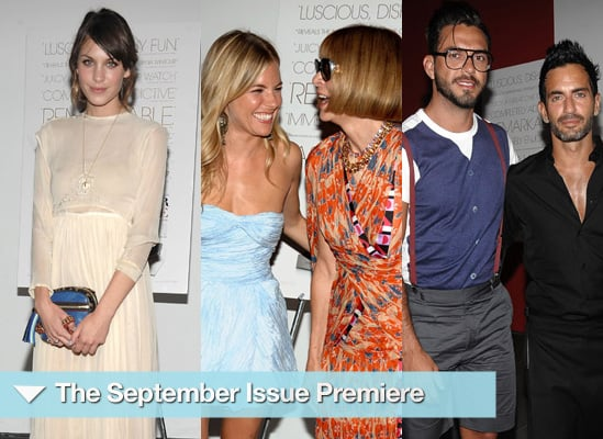 Photos from Premiere of September Issue in New York, Sienna Miller, Alexa Chung, Anna Wintour, Marc Jacobs