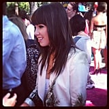 Carly Rae Jepsen hit the carpet.  Source: Instagram user Marcmalkin