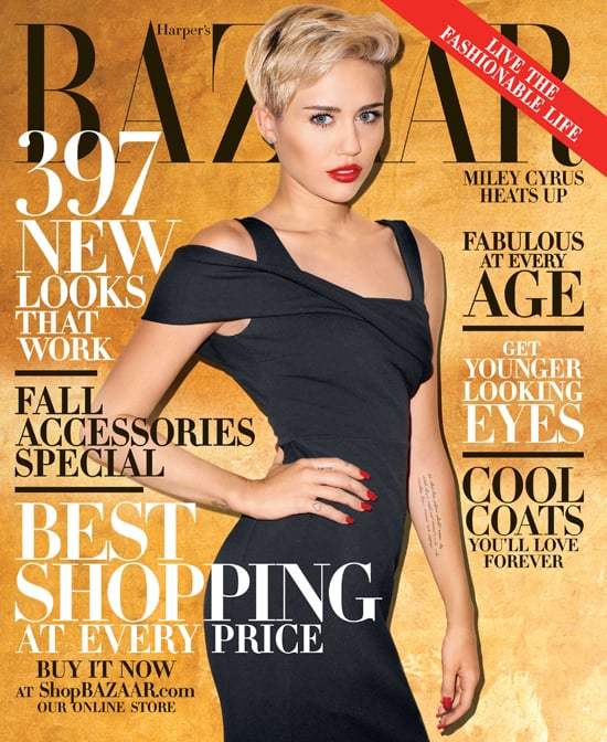 "Miley Cyrus landed on the October cover of Harper's Bazaar and gave advice to her fellow celebrities in the accompanying interview. She said that she wants Justin Bieber to keep his partying and antics behind closed doors and that she thinks it will be impossible for Lindsay Lohan to get rid of her ""toxic"" friends after her stint in rehab. Source: Terry Richardson/Harper's Bazaar"