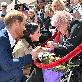 Meghan Markle and Prince Harry Elderly Women Pictures