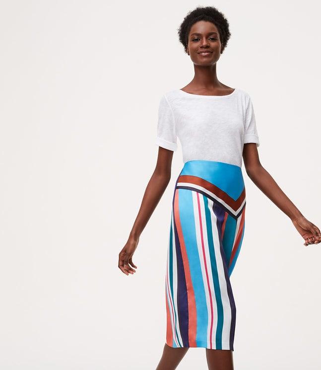 LOFT Petite Skyline Midi Skirt