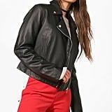 Boohoo Zoe Vegan Leather Biker Jacket