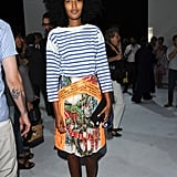 Julia Sarr-Jamois in Christopher Kane skirt