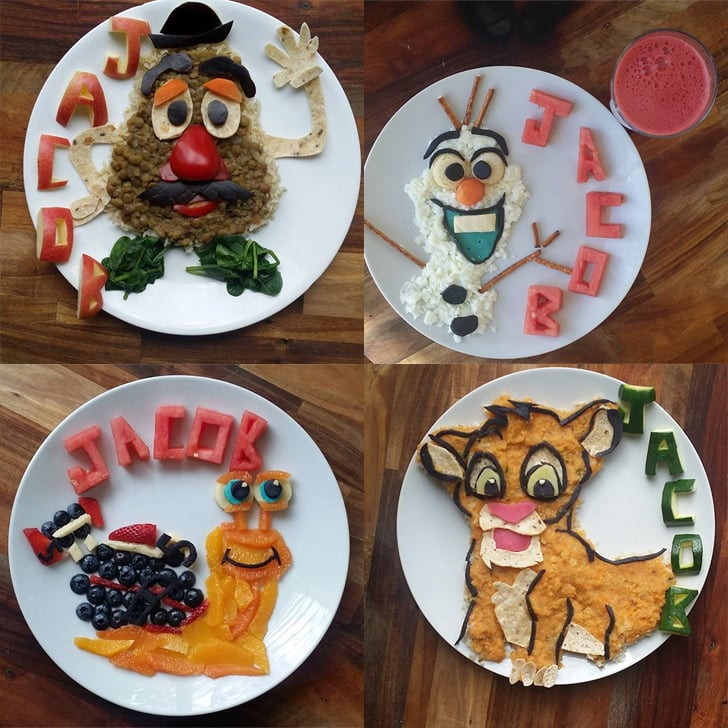 Jacob's Food Diaries Feature Healthy Character Plates