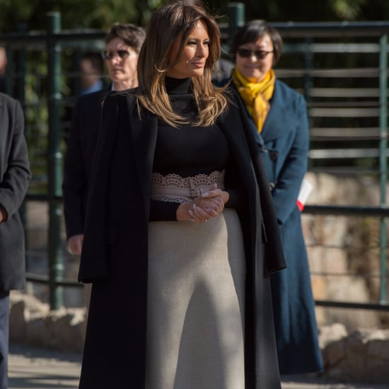 Melania Trump Alaia Belt at Great Wall of China