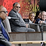 Watching Stevie Wonder perform at the National African American History and Culture Museum dedication in DC in 2016