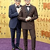 Eugene Levy and Dan Levy at the 2019 Emmys