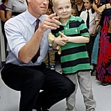 Prince William spent time with a young patient named Ellis Andrews when he and Kate Middleton opened a children's cancer unit at the Royal Marsden Hospital in England in September 2011.