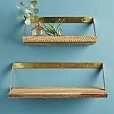 Beveled Wood Shelf