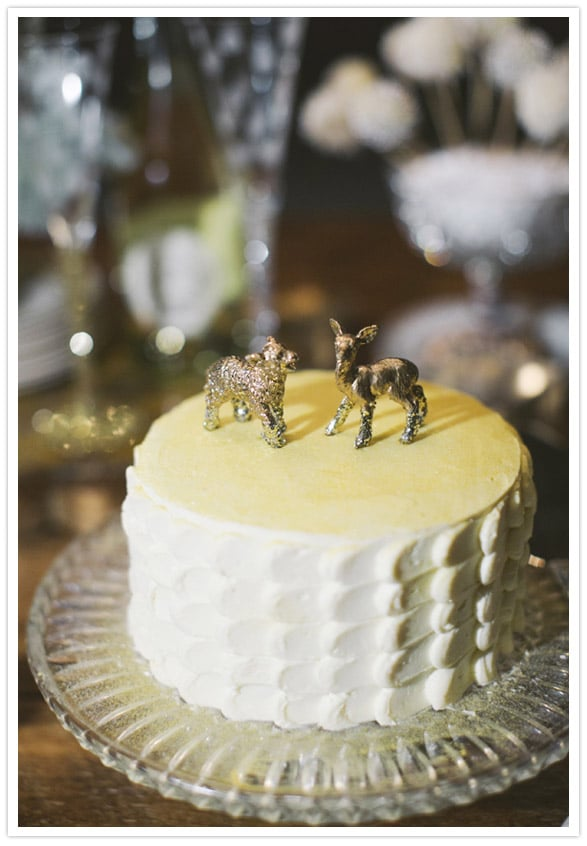 Simple with a playful twist, this wedding cake isn\'t afraid to be ...