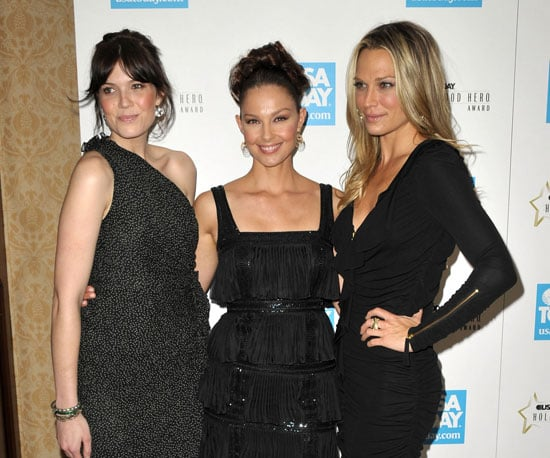 Slide Photo of Mandy Moore, Molly Sims and Ashley Judd at Heroes Event