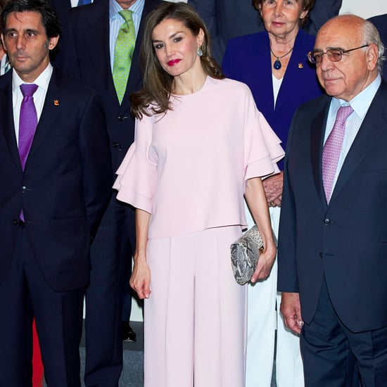 Queen Letizia's Zara Pink Outfit July 2017
