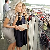 Presenter Donna Air and daughter Freya Aspinall watched the races.