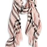 Burberry Giant Check Print Wool & Silk Scarf ($395)