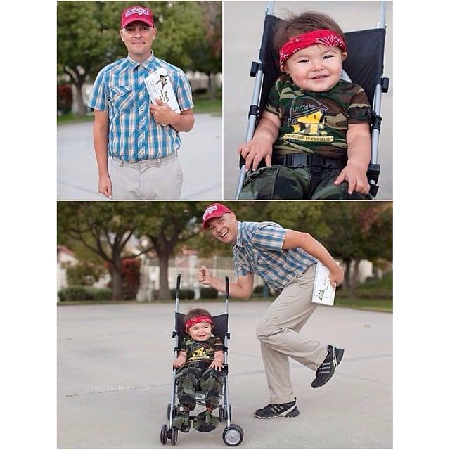 Forrest Gump And Lt Dan Mom Dresses Toddler For Halloween
