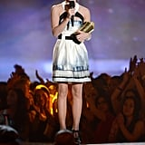 Emma Watson took the stage to accept her Trailblazer Award honor at the MTV Movie Awards.