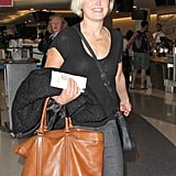 Malin Akerman made her way through LAX on Monday.