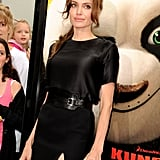 Angelina Gets Brad's Support During an Early Morning Kung Fu Premiere