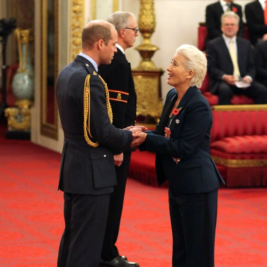 Prince William and Emma Thompson at Investiture Ceremony