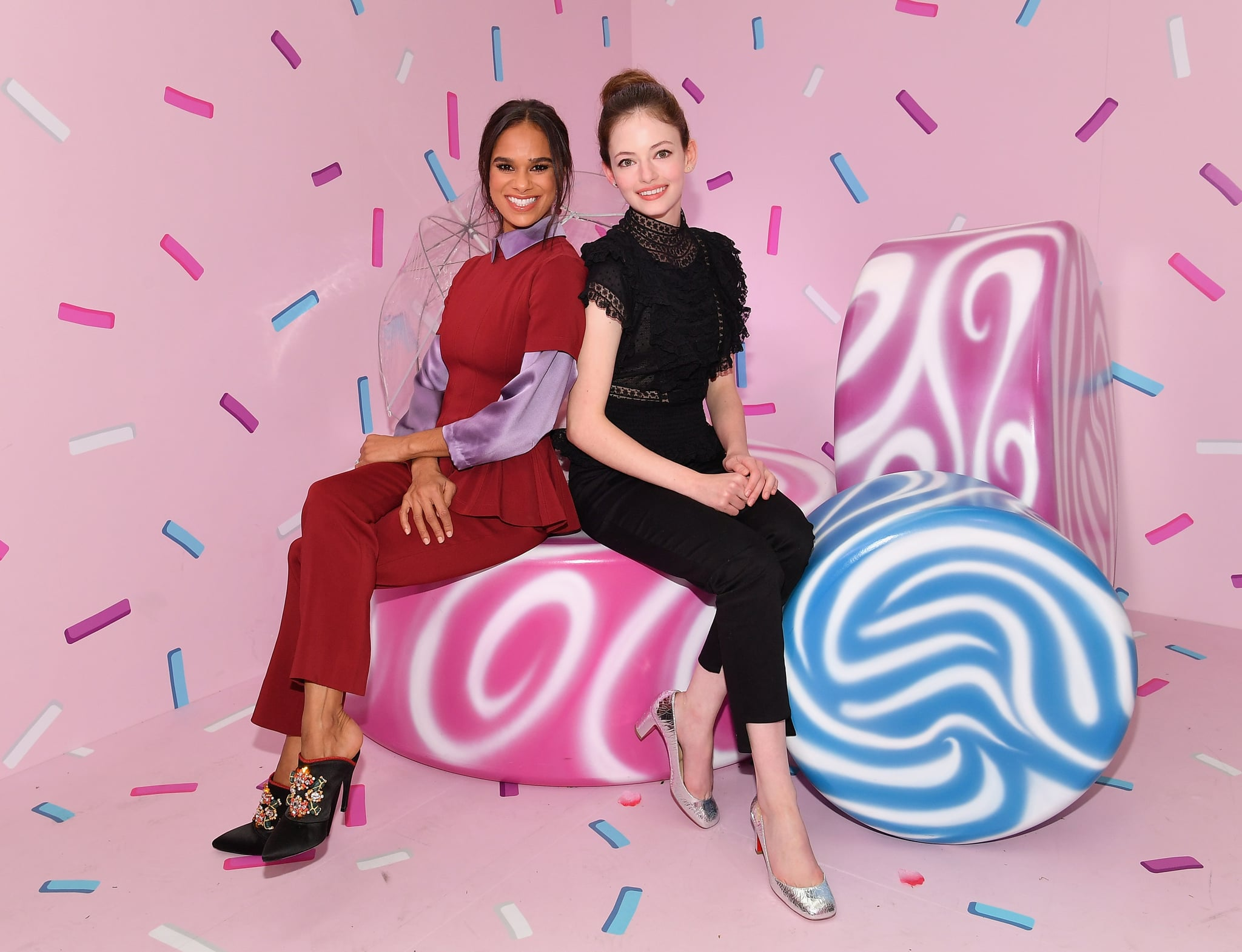 NEW YORK, NY - OCTOBER 22:  Misty Copeland (L) and Mackenzie Foy attend the Disney and POPSUGAR celebration of 'The Nutcracker and the Four Realms' with the film's stars Mackenzie Foy and Misty Copeland at an immersive activation, Journey Into The Four Realms, at The Oculus at Westfield World Trade Center on October 22, 2018 in New York City, United States.  (Photo by Dia Dipasupil/Getty Images for Disney Studios)