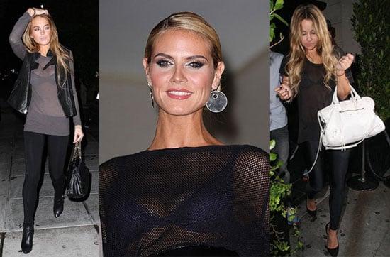 Lindsay Lohan, Heidi Klum and Lauren Conrad Wear See-Thru Tops