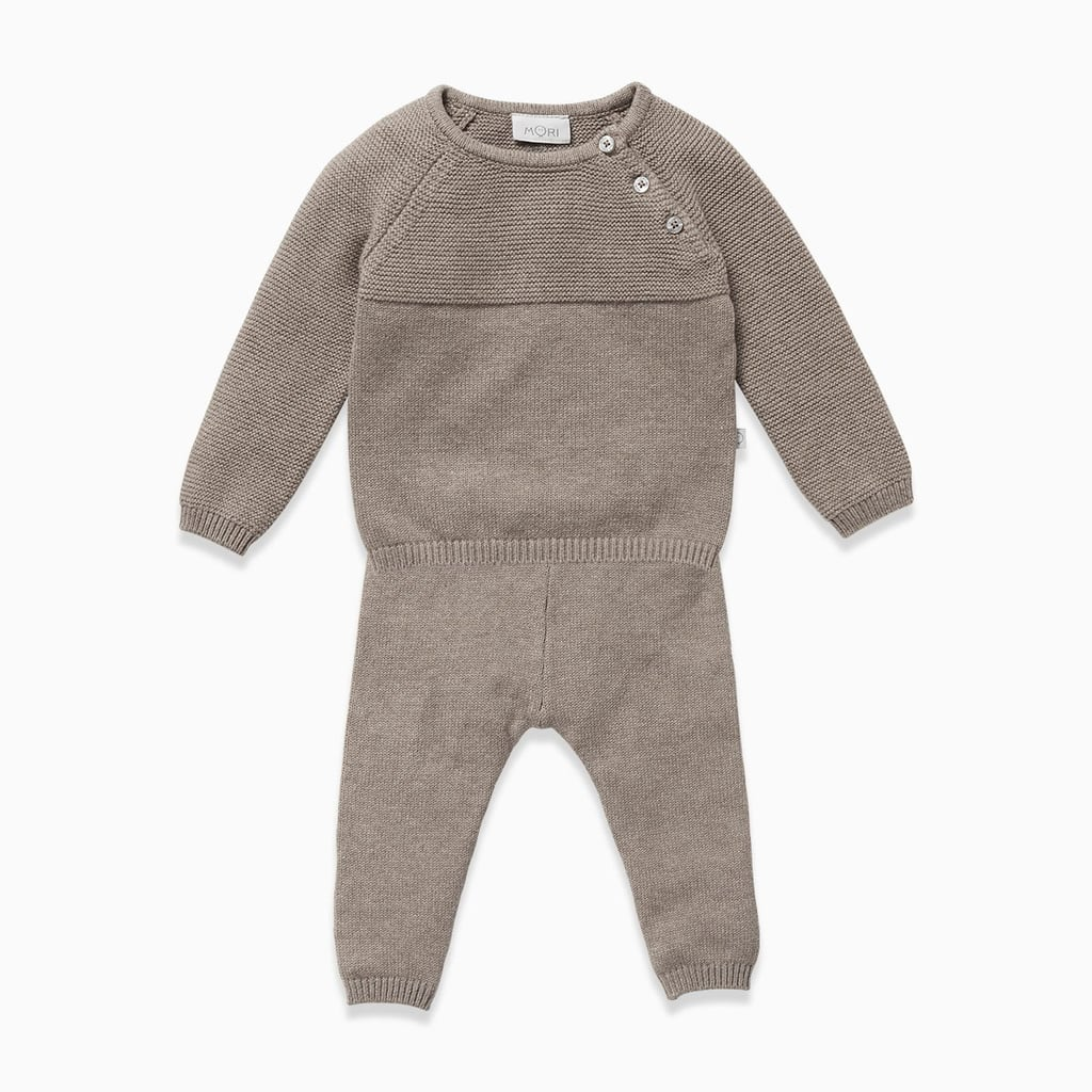 Biscuit Knitted Jumper & Joggers Set