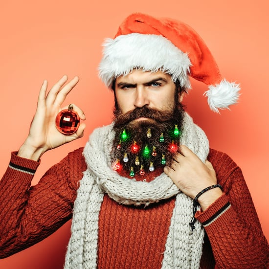 Light-Up Beard Christmas Ornaments