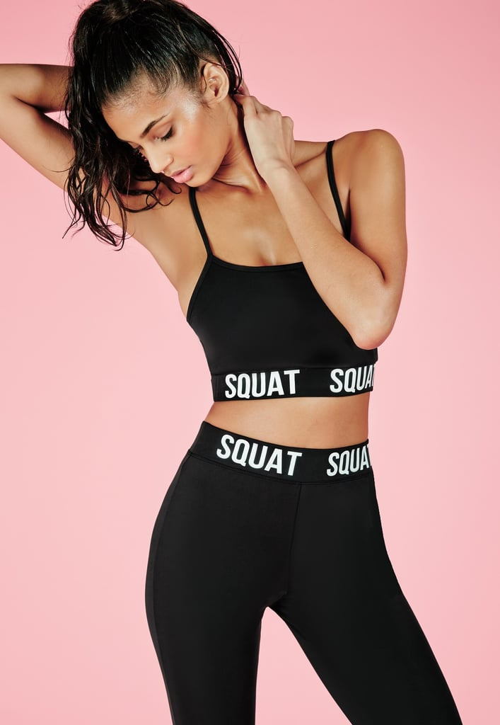 35dff4117a Missguided Active Squat Slogan Crop Top Black (£12)