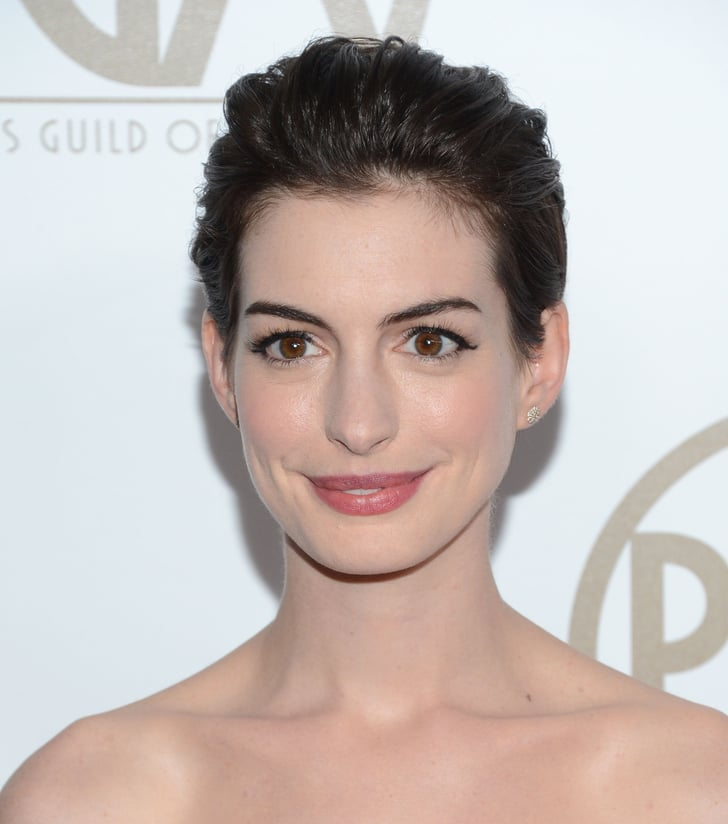 For the Producers Guild Awards, Anne opted for a formal ...