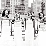 4 BFFs Wore Their Wedding Dresses For This Adorable Photo Shoot