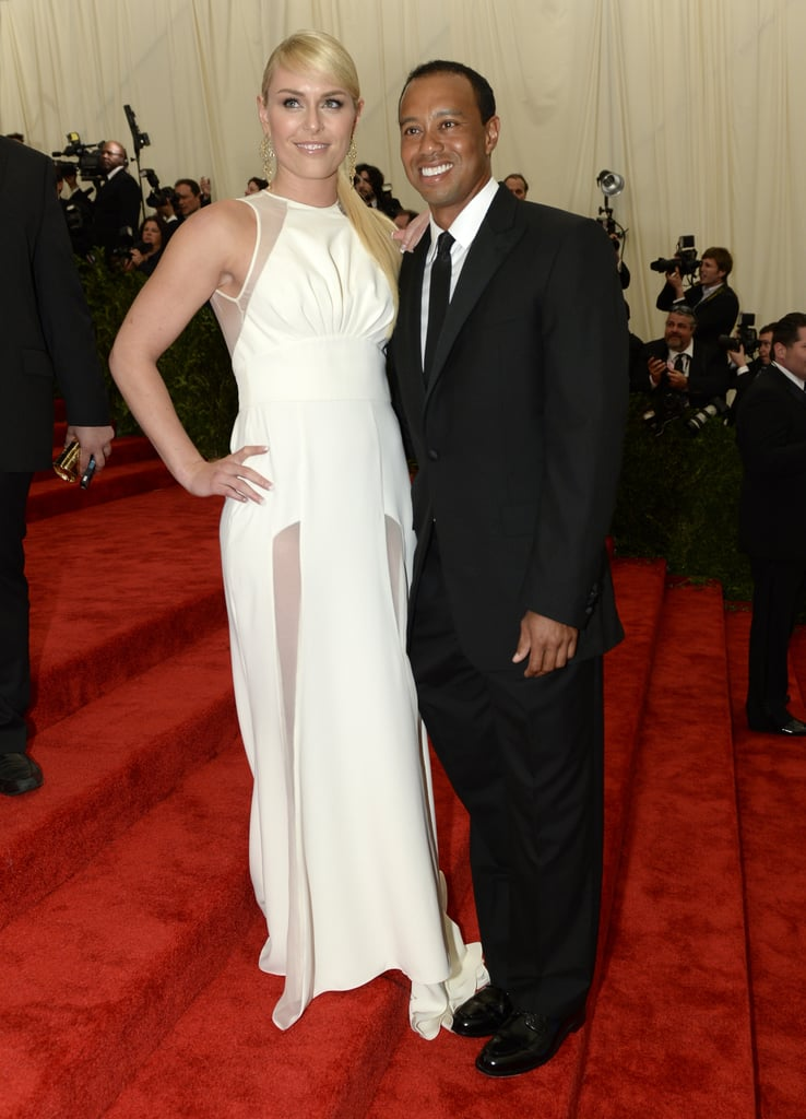 Lindsey Vonn and Tiger Woods at the Met Gala 2013.