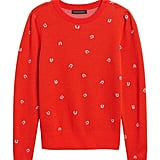 Merino-Blend Puff-Sleeve Sweater