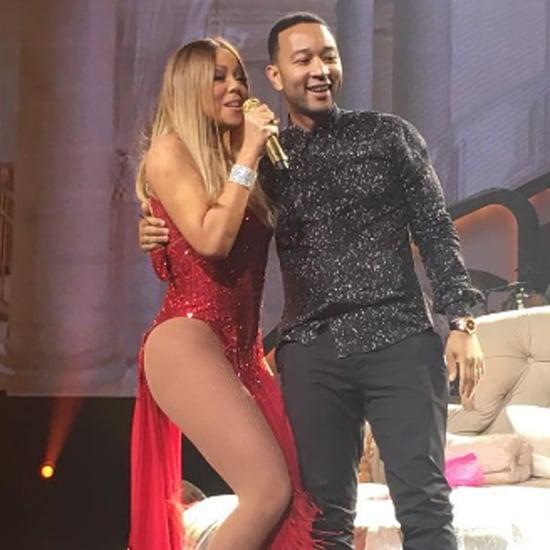 John Legend and Chrissy Teigen at Mariah Carey's Concert
