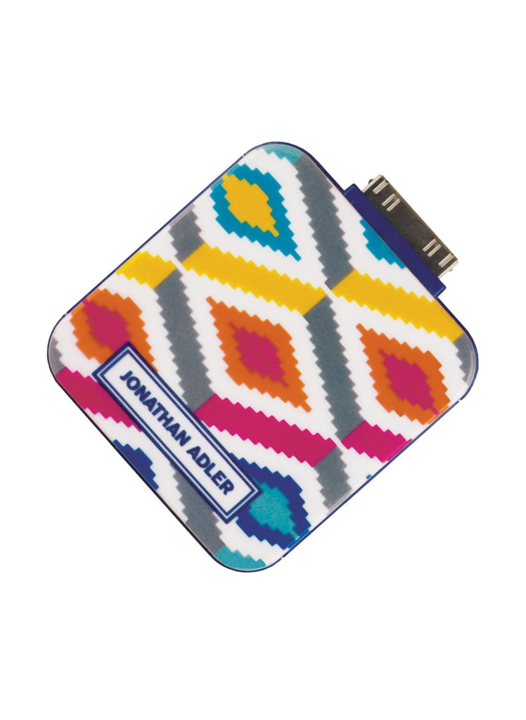 If battery cases aren't sleek enough for you, then consider grabbing a portable charger. Jonathan Adler's bright style ($28) will keep your devices going.