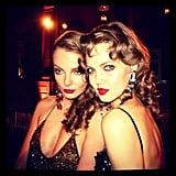 Eniko Mihalik and Lindsey Wixson played up the bombshell look for the amfAR Inspiration Gala in NYC. Source: Instagram user derekblasberg
