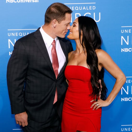 Nikki Bella and John Cena at NBC Upfront May 2017