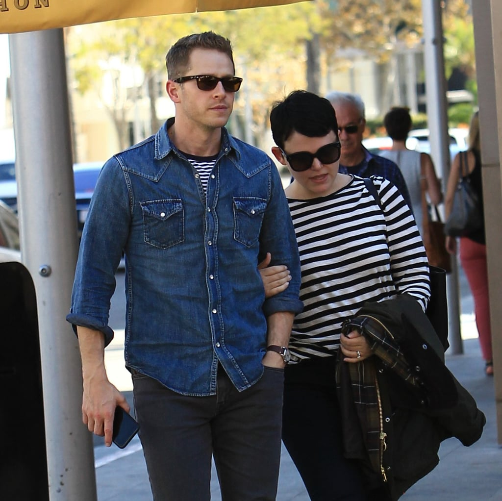 Ginnifer Goodwin and Josh Dallas stepped out for a lunch date at Bouchon in  LA on