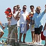 Elton John, David Furnish, Neil Patrick Harris, David Burtka, and their kids vacationed together.